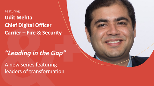 Image of Udit Mehta, Chief Digital Officer, Carrier - Fire and Security