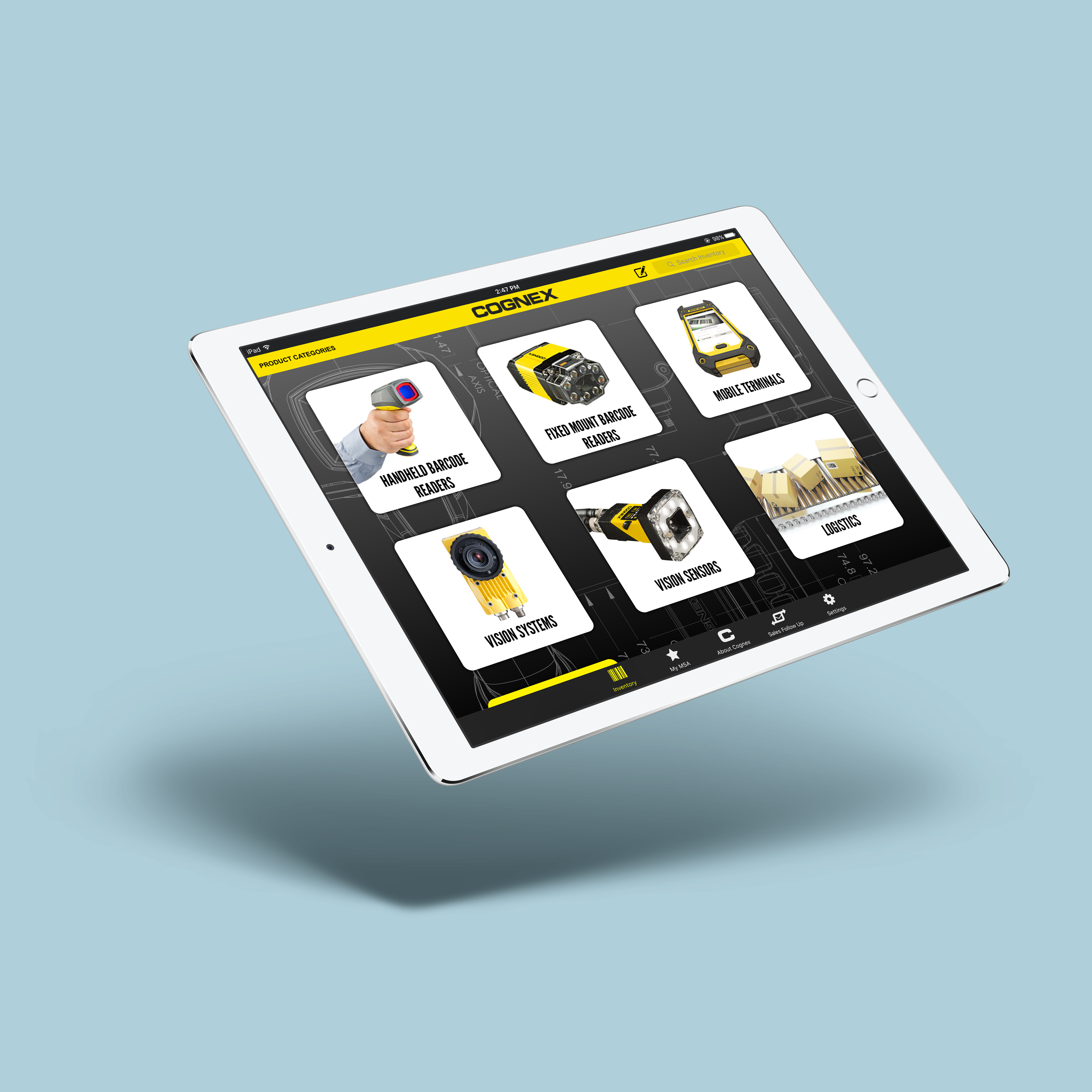 Mobile App: Cognex Product Catalog