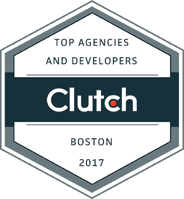 Rated top design and development agency in Boston by Clutch