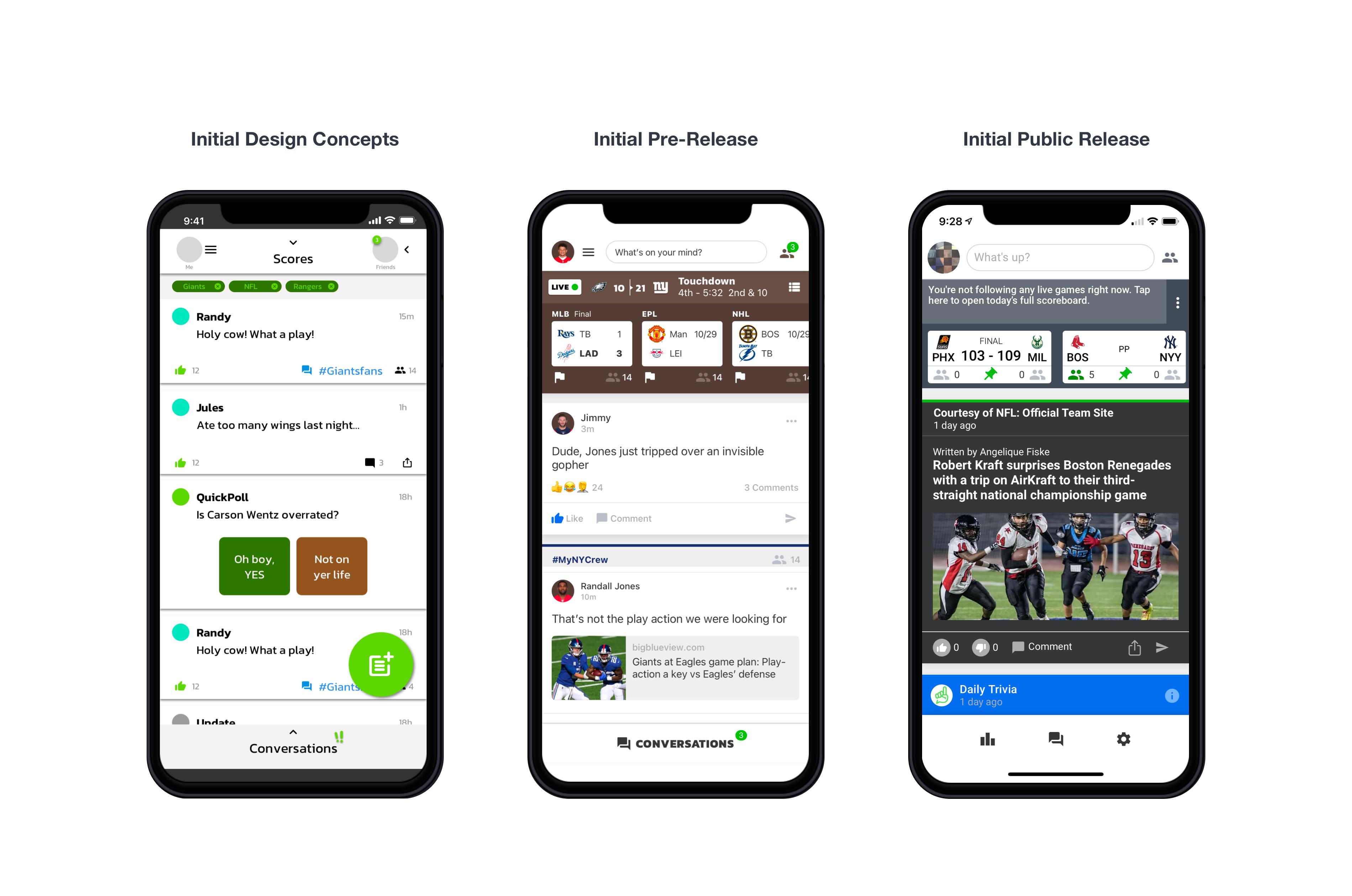 case study screens Chuck Mobile App