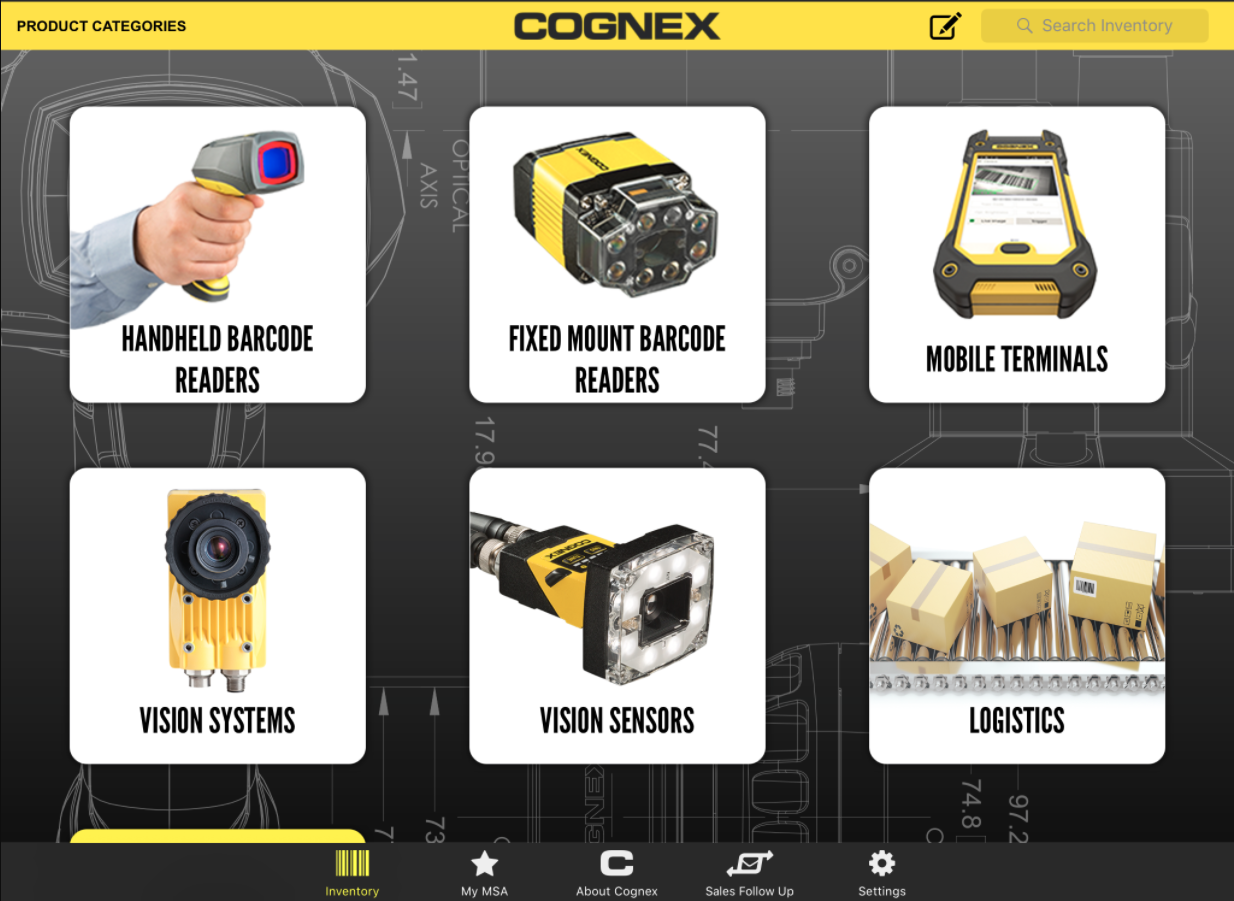 Cognex custom iPad application built in house at AndPlus in Boston