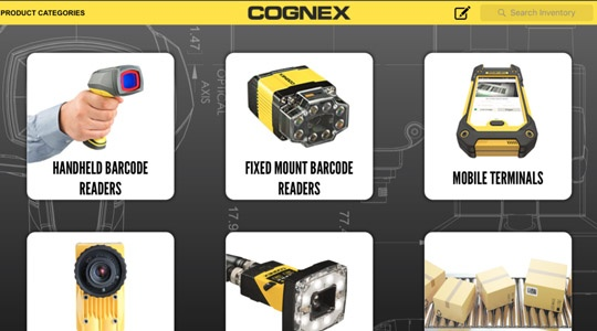 Custom iPad app built by AndPlus for Cognex