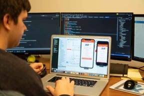 Engineer doing mobile app development