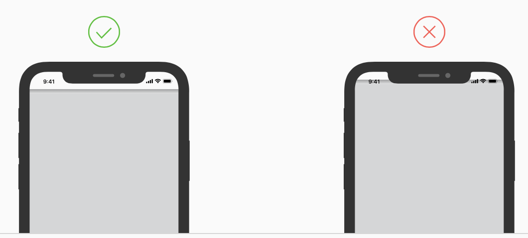 iPhone notch design by AndPlus