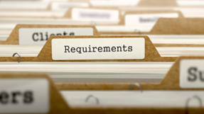 photo of file labeled requirements