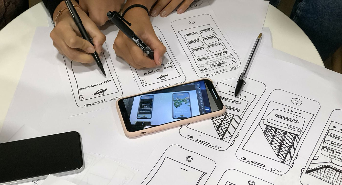 user experience flow drawing