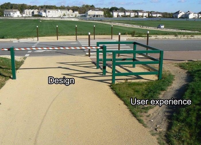 user experience vs design
