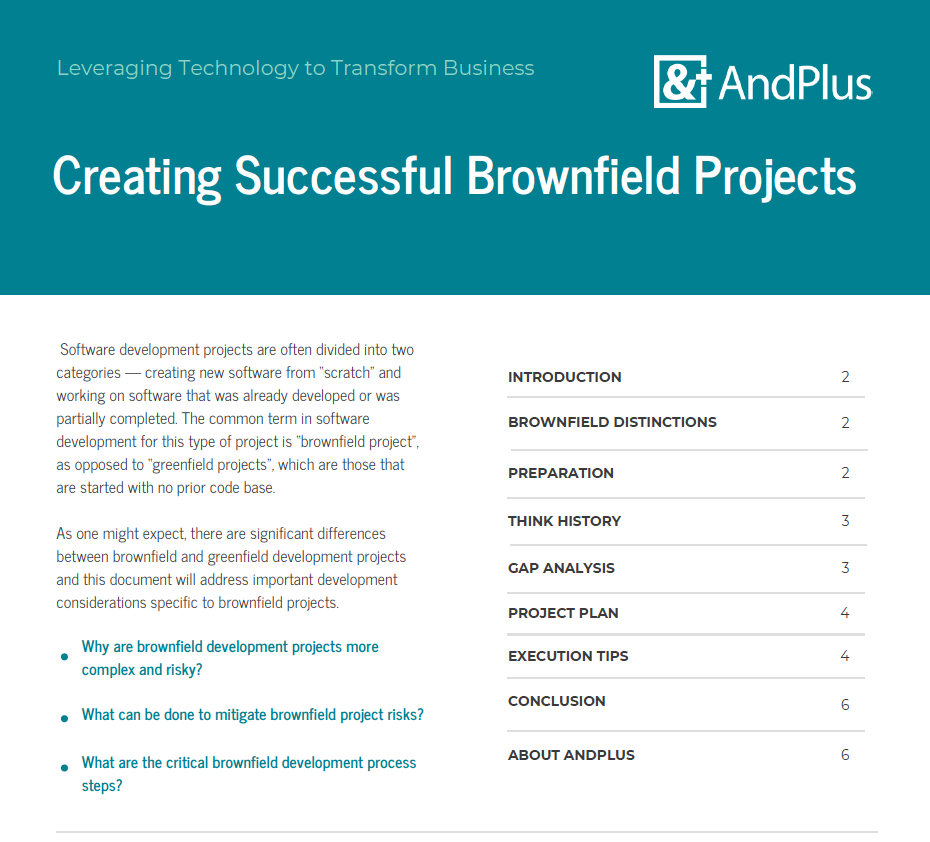 Brownfield WP partial cover