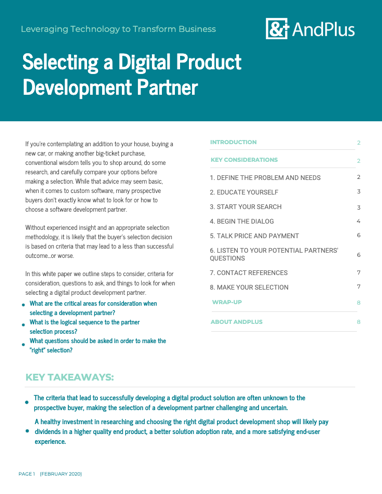 Selecting Digital Dev Partner WP Cover