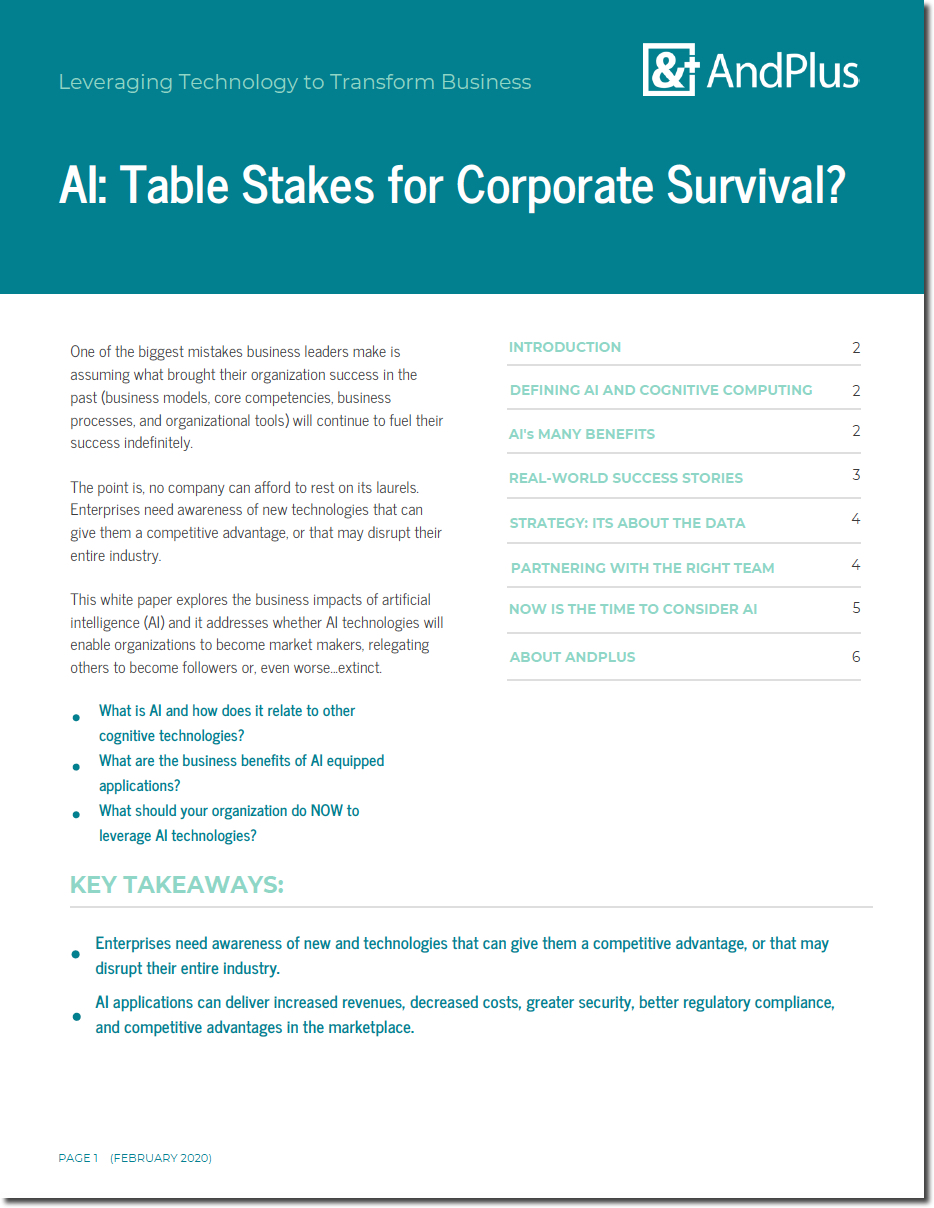 AI Table Stakes Cover