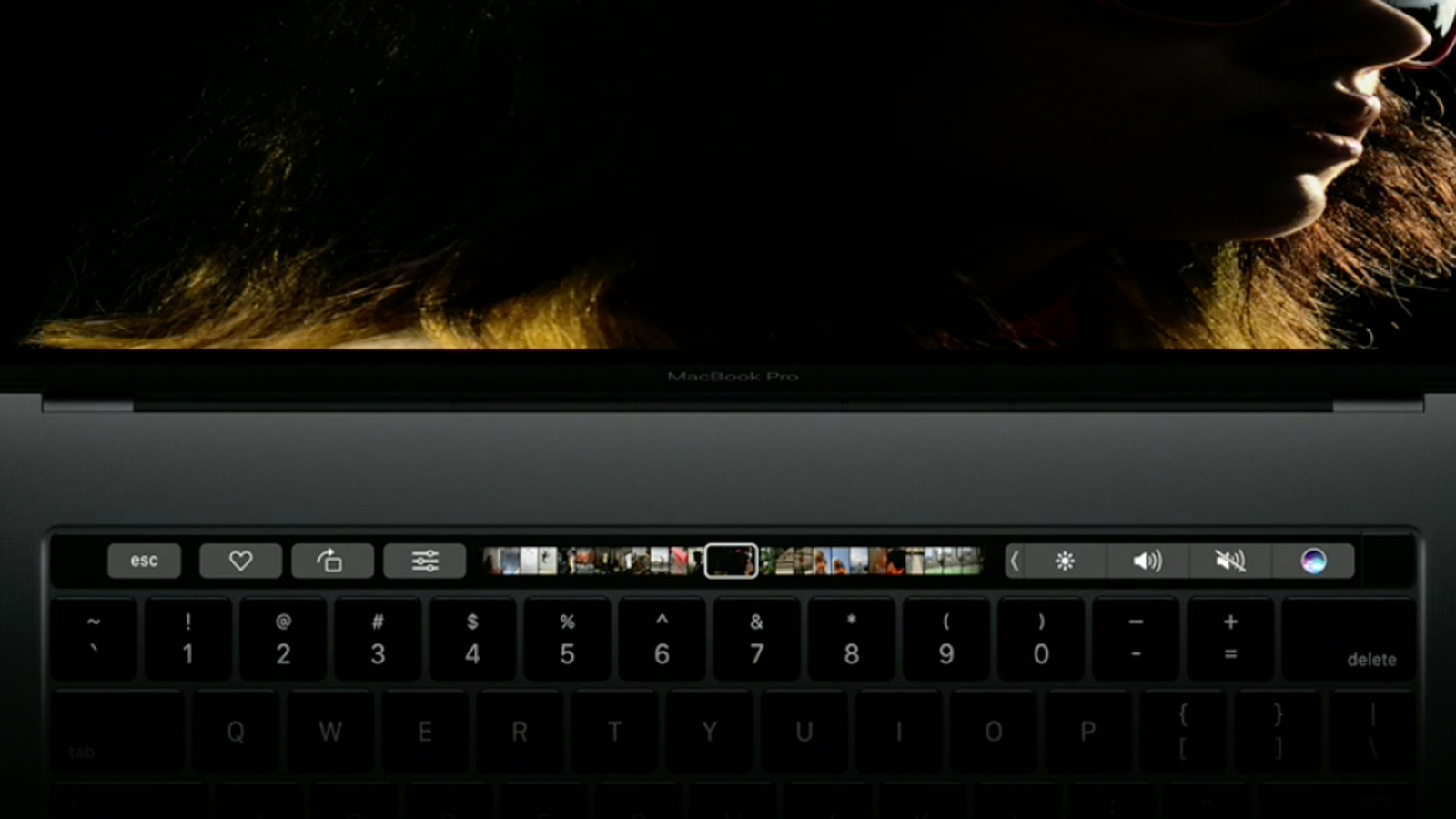 check the post:The New MacBook Pro Touch Bar for a description of the image