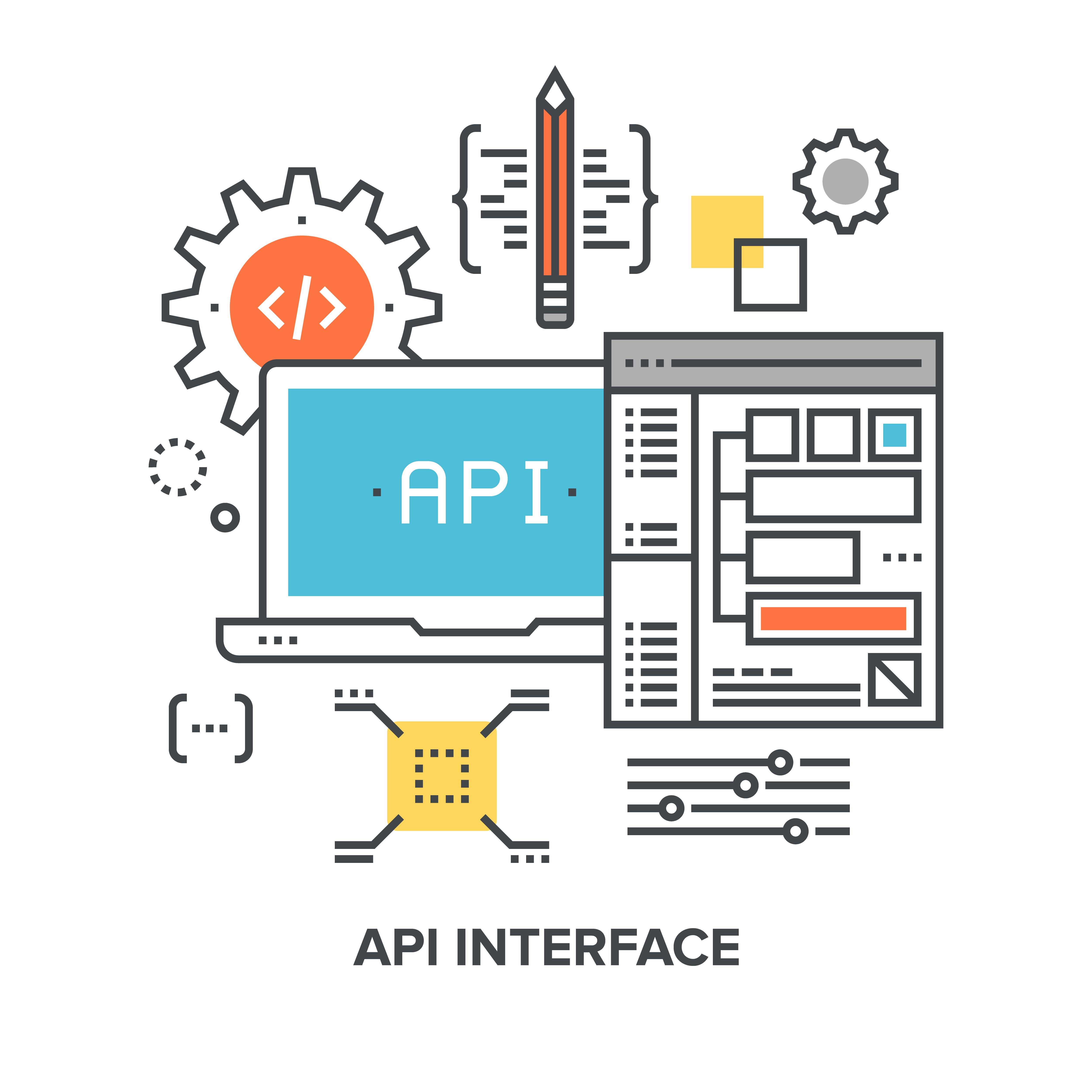 check the post:What Is an API and How Does It Help You? for a description of the image