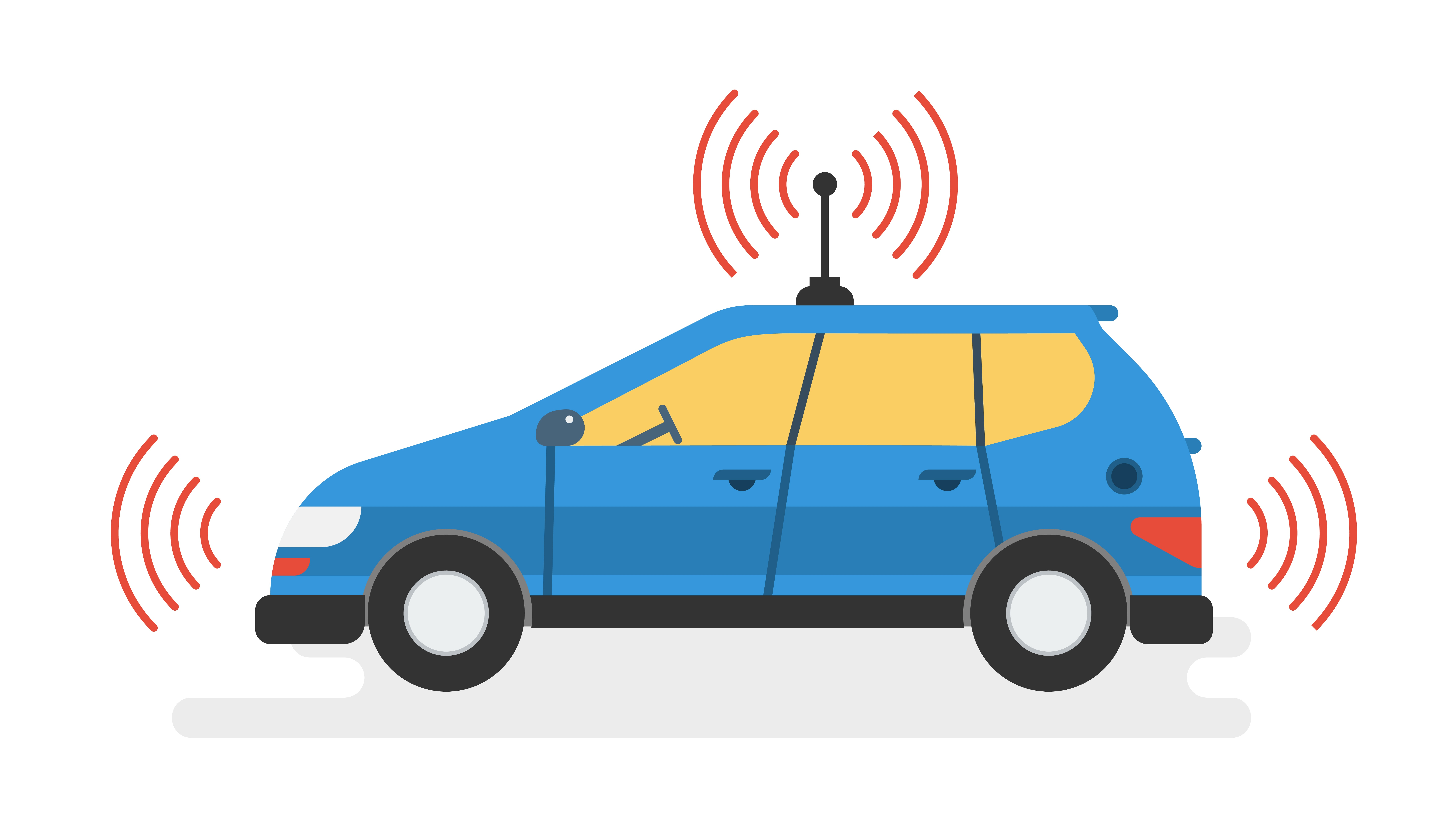 check the post:Self-Driving Cars and Their Effect on Traffic for a description of the image